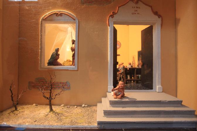 A San Giovanni in Monte, presepio di Arnaldo Cavallini con la collaborazione di Graziella Fornasari