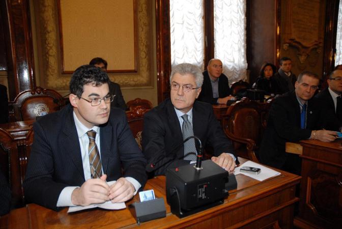 Daniele Corticelli e Alfredo Cazzola in Consiglio
