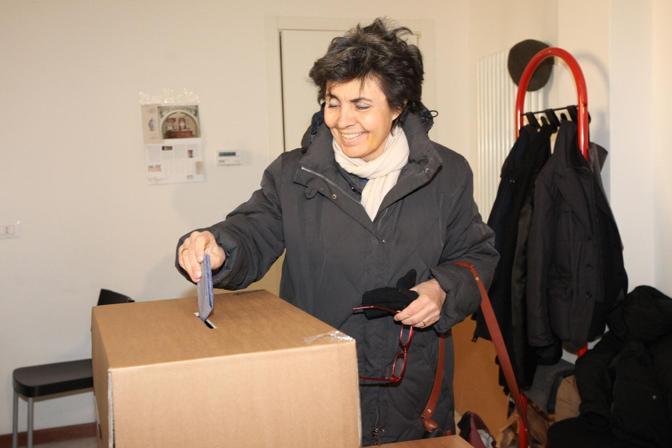 Flavia Franzoni, moglie dell'ex premier Romano Prodi. Ha sostenuto la candidatura di Amelia Frascaroli.