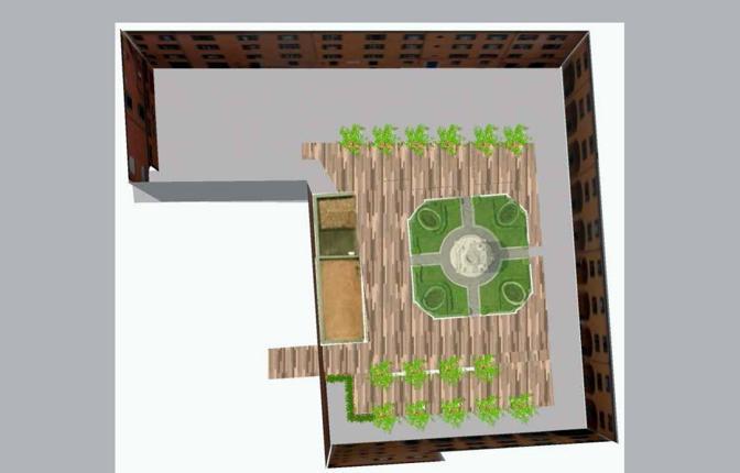 Palazzo d 39 accursio il cortile cambia look corrieredibologna for Disegni cortile anteriore per semplice casa ranch