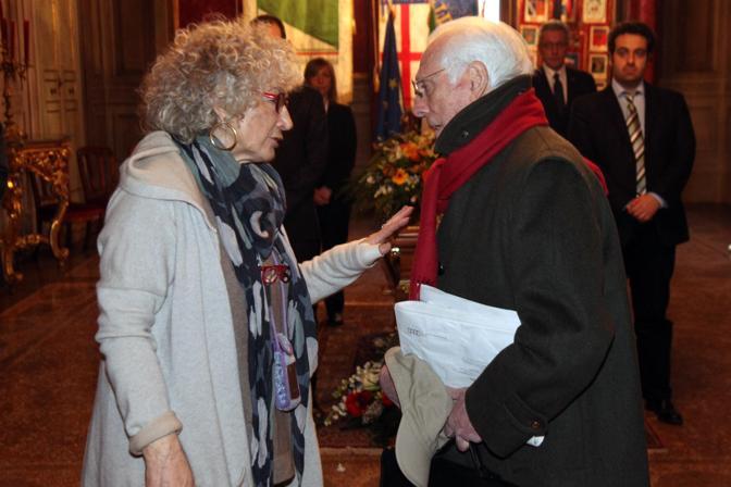 Angelo Guglielmi con la moglie di Fanti