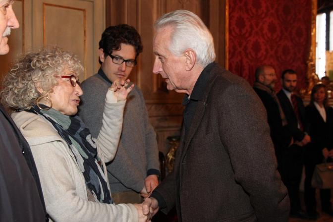 La moglie di Fanti, il figlio Lanfranco e Filippo Berselli