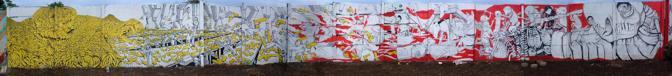 Il graffito a Managua, in Nicaragua, è del 2005 e raffigura la protesta dei lavoratori delle piantagioni di banana. Il graffito è stato ribattezzato L'Uomo Banano