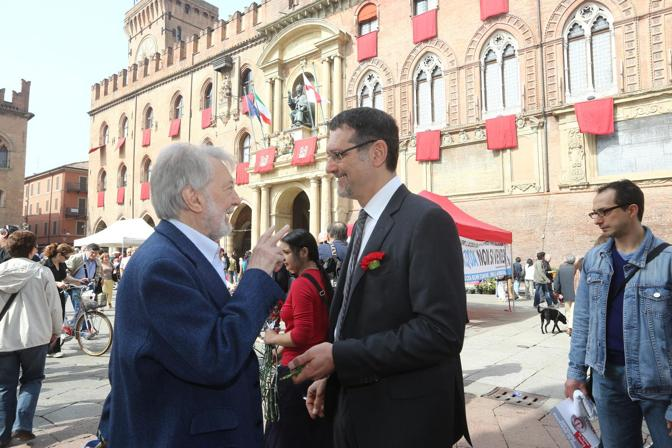 Gianni Sofri e Virginio Merola