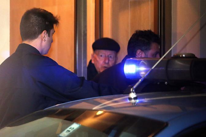 L'arresto dell'uomo