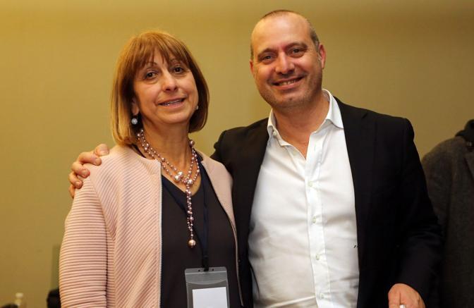 Bonaccini con Palma Costi, ex presidente dell'Assemblea legislativa regionale