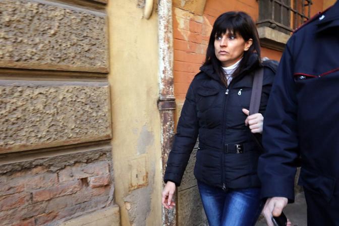 Al Tribunale di sorveglianza Annamaria Franzoni mentre si recava all udienza tre giorni fa