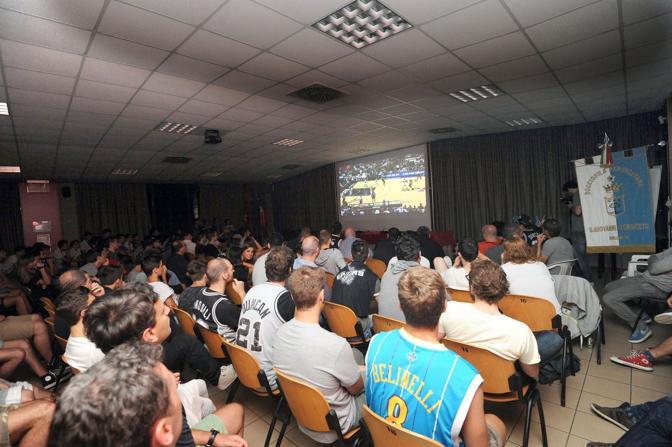 Festeggiamenti a San Giovanni in Persiceto per la vittoria dei San Antonio Spurs di Marco Belinelli nelle finali del campionato Nba