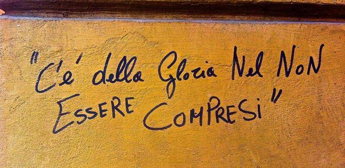 Le scritte sui muri in mostra corrieredibologna - Frasi sui muri di casa ...