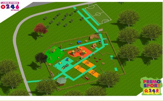 Illuminazione Parco Giochi: Music bar millennium centro sportivo.