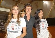 ALba Parietti, Pamela Prati e l'organizzatore del Vip Master Patrick Paldassarri