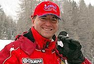 Il ministro Franco Frattini sulle piste da sci