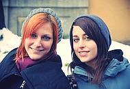 Le ragazze che ci hanno fatto da modelle (foto di Alessandro Ruggeri)