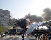 incendio vicino alla torre unipol corriere di bologna