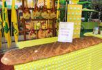 A Expo il panino da record ha il «cuore» emiliano - Il panino da record durante la giornata della carne promossa a Expo dalla Coldiretti. Un quintale e mezzo di pane Dop di Altamura per tre metri di lunghezza e farcito con i prodotti tipici della cucina emiliana: culatello di Zibello, prosciutto di Parma e di Modena, pancetta, salame e coppa piacentine. «Fare chiarezza sul consumo di carne e verificare gli effetti sui comportamenti di acquisto degli italiani» dice la Coldiretti. Il super panino verrà donato al Banco Alimentare, l'organizzazione di volontariato che destina i prodotti alimentari alle persone indigenti (Alessio Chiodi)