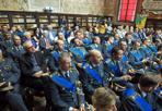 Guardia di Finanza, cerimonia all'Archiginnasio - Nella sala dello Stabat Mater la cerimonia per il 242° anniversario della fondazione del corpo della Guardia di Finanza